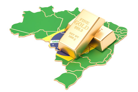 Foreign-exchange reserves of Brazil concept, 3D rendering isolated on white background Stock Photo