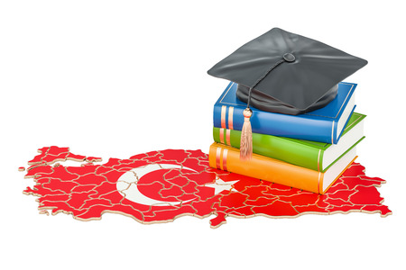 Education in Turkey concept, 3D rendering isolated on white background Stock Photo