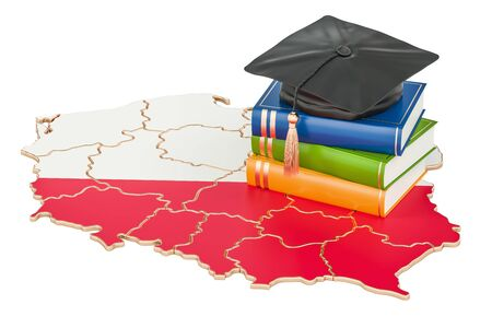 Education in Poland concept, 3D rendering isolated on white background
