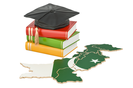 master: Education in Pakistan concept, 3D rendering isolated on white background