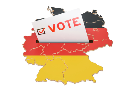 Vote in Germany, German election concept, 3D rendering isolated on white background Stock Photo