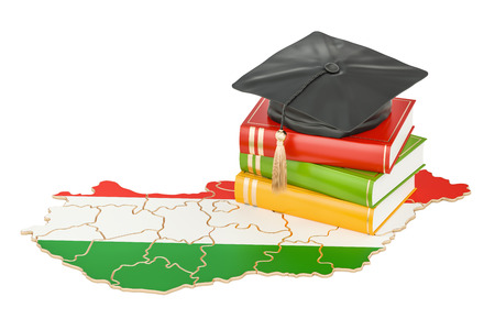 Education in Hungary concept, 3D rendering isolated on white background