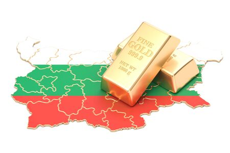 Foreign-exchange reserves of Bulgaria concept, 3D rendering isolated on white background