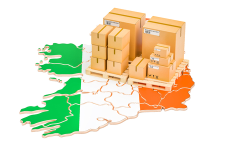 Shipping and Delivery from Ireland isolated on white background