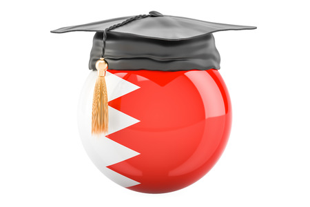 education and study in Bahrain concept, 3D rendering