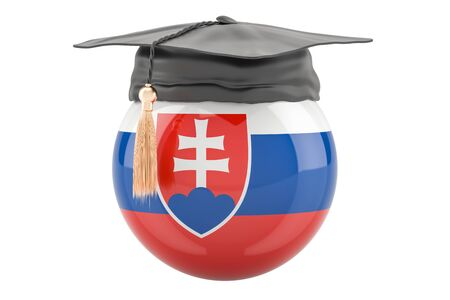 education and study in Slovakia concept, 3D rendering