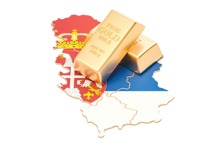 Foreign-exchange reserves of Serbia concept, 3D rendering isolated on white background