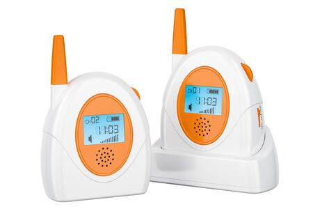 Audio baby monitor, baby alarm. 3D rendering isolated on white background