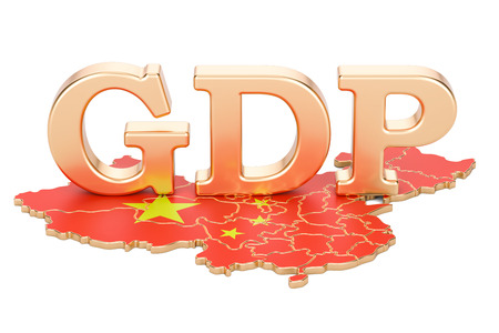 gross domestic product GDP of China concept, 3D rendering isolated on white background