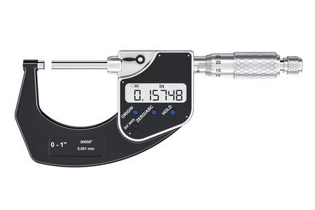 Digital Micrometer, 3D rendering isolated on white background