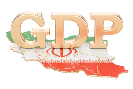 gross domestic product GDP of Iran concept, 3D rendering isolated on white background