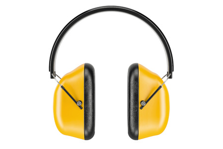 Standard Ear Defenders, 3D rendering isolated on white background Stock Photo