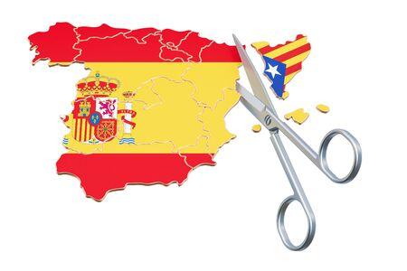 Catalonia independence concept, 3D rendering isolated on white background Stock Photo