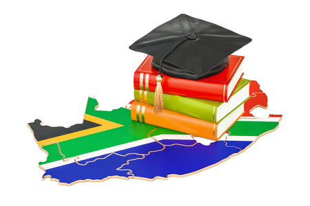 Education in South Africa concept, 3D rendering isolated on white background