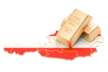 Foreign-exchange reserves of Austria concept, 3D rendering isolated on white background Reklamní fotografie