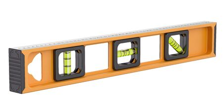 Spirit level, 3D rendering isolated on white background Stock Photo