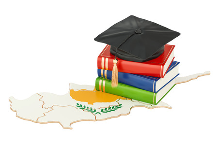 Education in Cyprus concept, 3D rendering isolated on white background Stock Photo