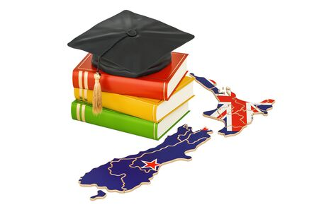 Education in New Zealand concept, 3D rendering isolated on white background Stock Photo