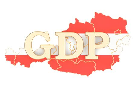 gross domestic product GDP of Austria concept, 3D rendering isolated on white background