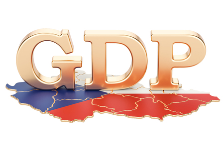gross domestic product GDP of Czech Republic concept, 3D rendering isolated on white background