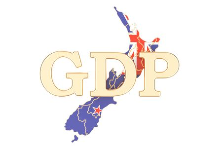 gross domestic product GDP of New Zealand concept, 3D rendering isolated on white background