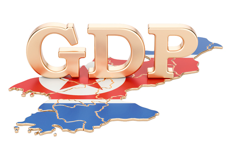 gross domestic product GDP of North Korea concept, 3D rendering isolated on white background