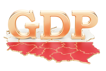 gross domestic product GDP of Poland concept, 3D rendering isolated on white background