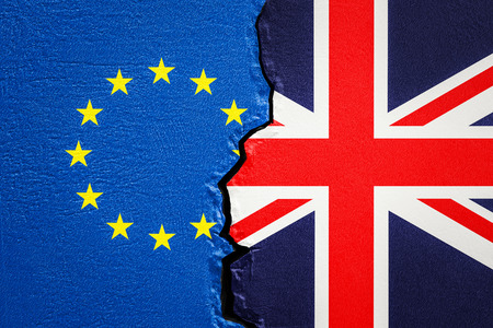 Great Britain and EU, Brexit concept. 3D rendering