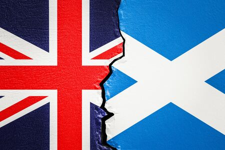 Great Britain and Scotland, exit and independence concept, 3D rendering