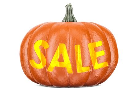 Halloween sale concept, 3D rendering isolated on white background Stock Photo