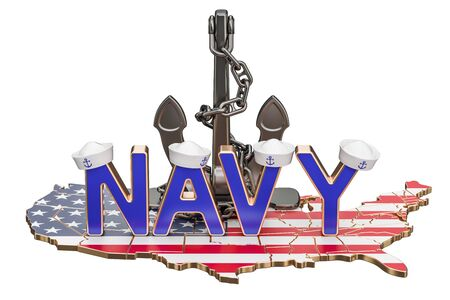 Navy Day in USA concept, 3D rendering isolated on white background