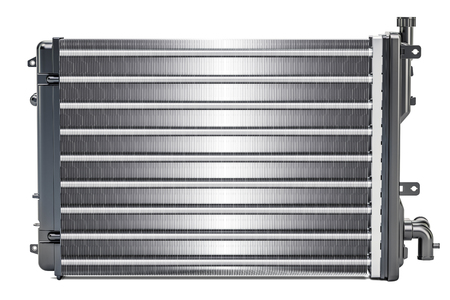Car radiator, 3D rendering isolated on white background Stock Photo