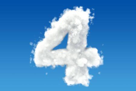 数 4、空の雲から。3 D レンダリング