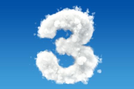 番号 3、空には雲から。3 D レンダリング