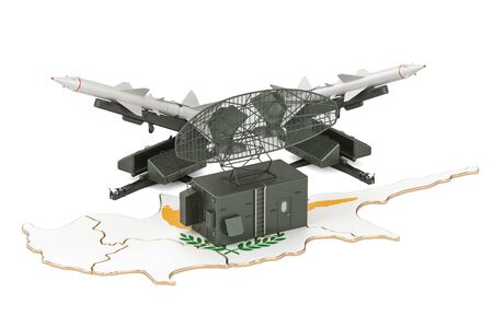 Cyprus missile defence system concept, 3D rendering