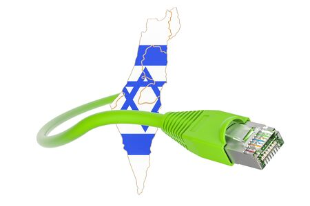 Internet connection in Israel concept. 3D rendering isolated on white background Stock Photo