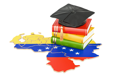 Education in Venezuela concept, 3D rendering isolated on white background