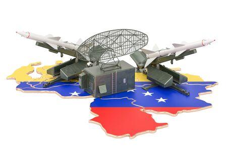 Concepto de sistema de defensa de misiles de Venezuela, representación 3D