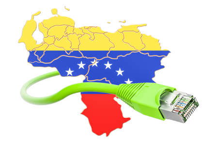 Internet connection in Venezuela concept. 3D rendering isolated on white background Stock Photo