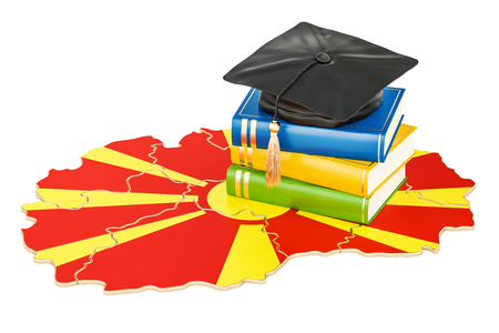 Education in Macedonia concept, 3D rendering isolated on white background Stock Photo