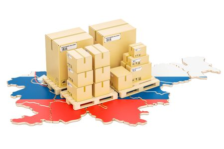 Shipping and Delivery from Slovenia isolated on white background