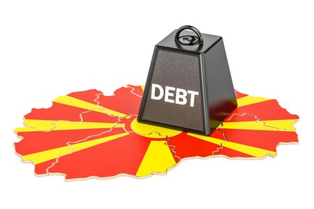 Macedonian national debt or budget deficit, financial crisis concept, 3D rendering Stock Photo