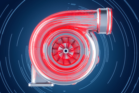 abstract turbo concept, 3D rendering
