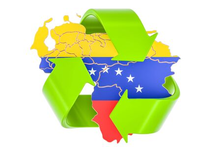 Recycling in Venezuela concept, 3D rendering isolated on white background Stock Photo