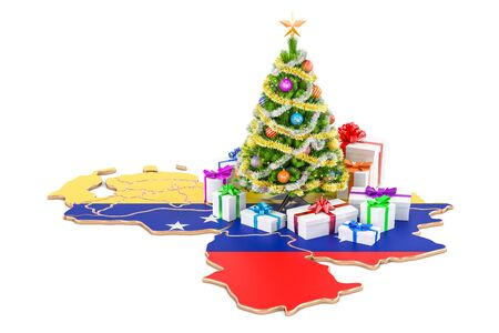 Christmas and New Year holidays in Venezuela concept. 3D rendering isolated on white background