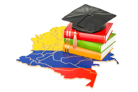 education in Colombia concept, 3D rendering isolated on white background
