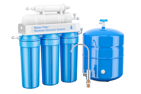 Modern Reverse Osmosis System, 3D rendering 스톡 콘텐츠