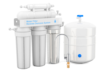 Reverse Osmosis System, 3D rendering
