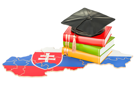Education in Slovakia concept, 3D rendering isolated on white background