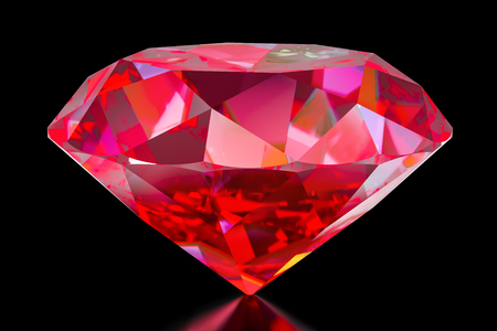 Ruby, 3D rendering isolated on white background Stock Photo